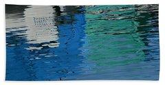 Marina Water Abstract 1 Beach Sheet by Fraida Gutovich