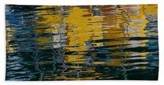 Marina Water Abstract 2 Beach Sheet by Fraida Gutovich