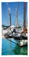 Marinas And Masts  Beach Sheet by Kathi Mirto