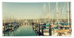 Marinaside Sausalito California Beach Towel