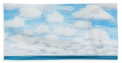 Marine Layer Breaking Up Beach Towel