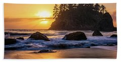 Marine Layer Sunset At Trinidad, California Beach Towel