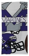 Marinette Marines. Beach Towel