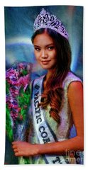 Marizza Delgado Miss Pacific Coast Teen 2016 Beach Towel