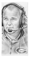 Mark Richt  Beach Towel by Greg Joens