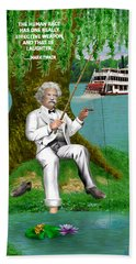 Mark Twain On The Mississippi Beach Towel