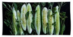 Market Cucumbers Beach Towel