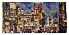 Market Square Monday Beach Towel