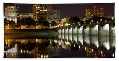 Market Street Bridge Reflections Beach Towel