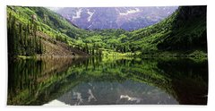 Maroon Bells  Beach Towel by Jerry Battle
