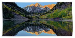 Maroon Bells Sunrise Beach Towel