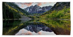 Maroon Bells Sunset Beach Towel