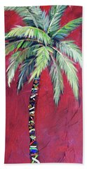 Maroon Palm Tree Beach Sheet