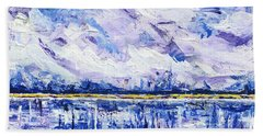 Beach Towel featuring the painting Marsh Madness by Kathryn Riley Parker