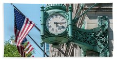 Marshall Field's Clock Beach Towel
