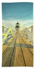 Marshall Point Light Beach Sheet by Brian Caldwell