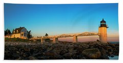 Marshall Point Lighthouse Beach Sheet by Diane Diederich