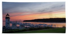 Marshall Point Lighthouse, Port Clyde, Maine -87444 Beach Towel