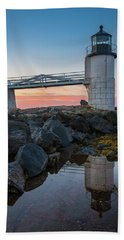 Marshall Point Reflection At Sunrise Beach Towel