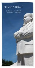Beach Towel featuring the photograph Martin Luther King Jr. Monument by Steven Frame