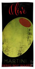 Martini Olive Beach Towel