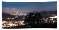 Martins Ferry Night Beach Towel