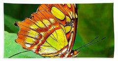 Marvelous Malachite Butterfly Beach Towel