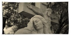 Mary Magdalene At The Crucifixion Beach Towel