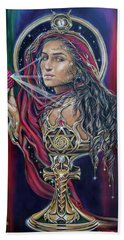Mary Magdalen - The Holy Grail Beach Towel