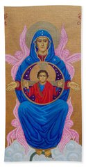 Mary Mother Of Mercy Icon - Jubilee Year Of Mercy Beach Towel