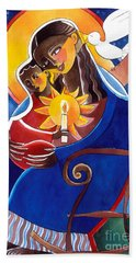 Mary, Seat Of Wisdom - Mmwis Beach Towel