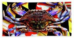 Maryland Blue Crab Beach Towel
