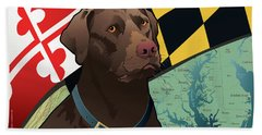 Maryland Chocolate Lab Beach Towel