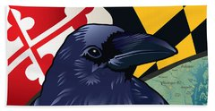 Maryland Citizen Raven Beach Towel