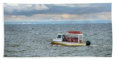 Maryland Crab Boat Fishing On The Chesapeake Bay Beach Towel