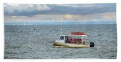 Maryland Crab Boat Fishing On The Chesapeake Bay Beach Sheet