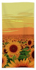 Maryland Sunflowers Beach Towel