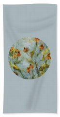 Beach Towel featuring the painting Mary's Garden by Mary Wolf