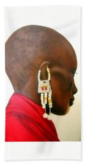 Masai Woman - Original Artwork Beach Sheet