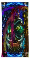 Mask Of The Spirit Guide Beach Towel