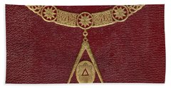Masonic Symbols From Cover Of The Beach Towel