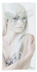 Masquerade In White Beach Sheet by Diane Diederich