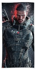 Mass Effect Beach Towel by Taylan Apukovska