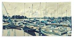 Mast Reflection Beach Towel