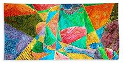 Mat Weaver Beach Towel by Bankole Abe