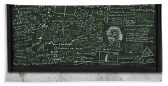 Maths Formula On Chalkboard Beach Sheet by Setsiri Silapasuwanchai