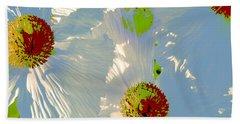 Beach Towel featuring the photograph Matilija Poppies Pop Art by Ben and Raisa Gertsberg
