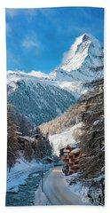 Beach Towel featuring the photograph Matterhorn  by Brian Jannsen