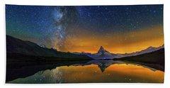 Matterhorn By Night Beach Towel