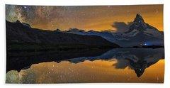 Matterhorn Milky Way Reflection Beach Sheet